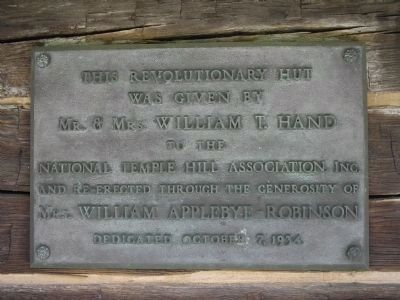 Hut Dedication Plaque image. Click for full size.