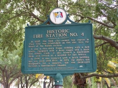 Historic Fire Station No. 4 Marker image. Click for full size.