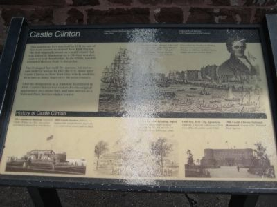 Second Castle Clinton Marker image. Click for full size.