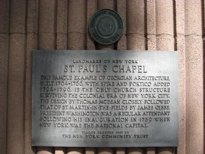 St. Paul's Chapel Marker image. Click for full size.