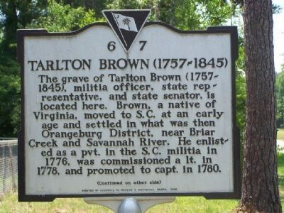 Tarlton Brown ( 1757 - 1845 ) Marker image. Click for full size.