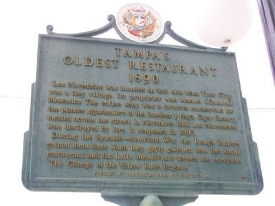 Tampa's Oldest Restaurant Marker image. Click for full size.