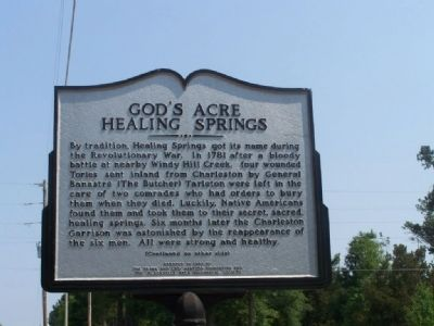 God�s Acre Healing Springs Marker Photo, Click for full size
