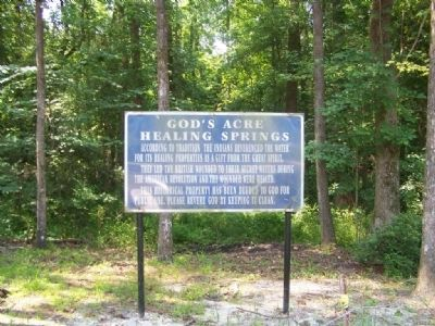God's Acre Healing Springs Marker image. Click for full size.