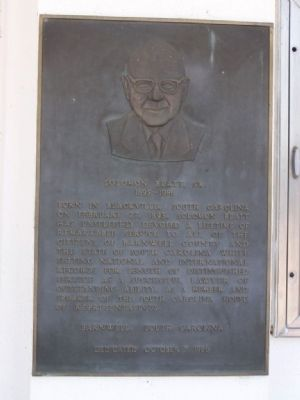 Solomon Blatt, Sr. Marker Photo, Click for full size