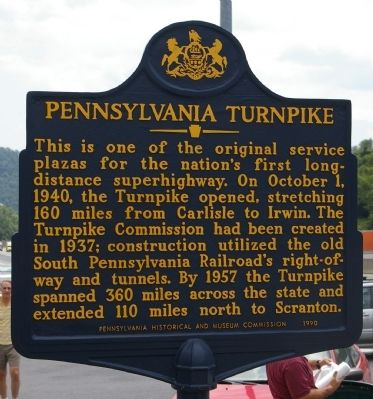 Pennsylvania Turnpike Marker image. Click for full size.