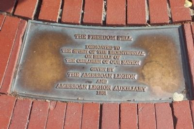 The Freedom Bell Marker Photo, Click for full size