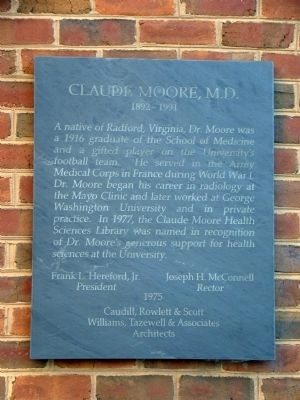 Claude Moore, M.D. Marker image. Click for full size.