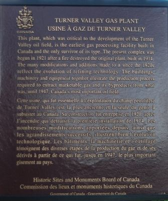 Turner Valley Gas Plant Marker image. Click for full size.