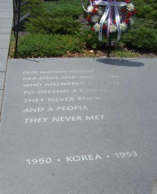 Korean War Veterans Memorial, Panel 1 Photo, Click for full size
