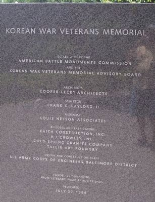 Korean War Veterans Memorial, Panel 4 Photo, Click for full size