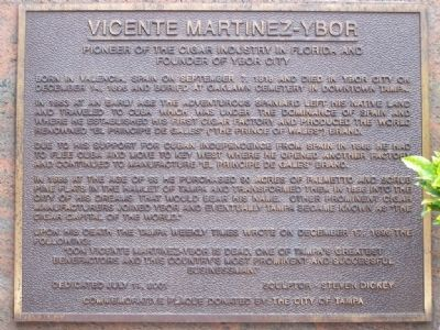 Vicente Martinez- Ybor Marker image. Click for full size.