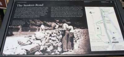 The Sunken Road Marker Photo, Click for full size