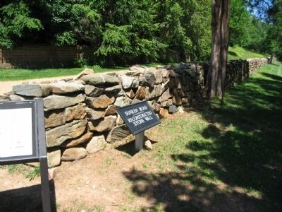 Reconstructed Section of the Stone Wall Photo, Click for full size
