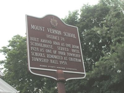 Mount Vernon School Marker image. Click for full size.