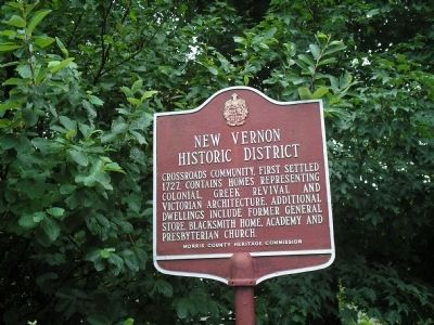 New Vernon Historic District Marker image. Click for full size.