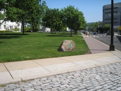 Washington�s Route Marker in Somerville Photo, Click for full size