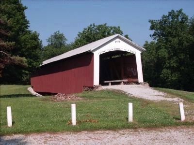 1876 Covered Bridge at Marker Road-Side Park Photo, Click for full size