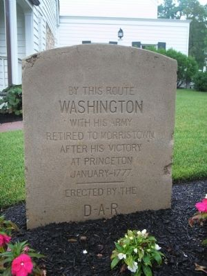 Washington's Route from Princeton to Morristown Marker image. Click for full size.