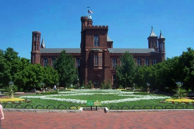 Enid A. Haupt Garden, south side of Smithsonian Castle image. Click for full size.