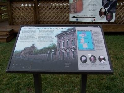The President's House Site 1790-1800 Marker Photo, Click for full size