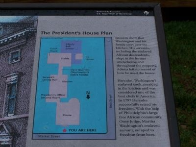 Close view of diagram on marker. Photo, Click for full size