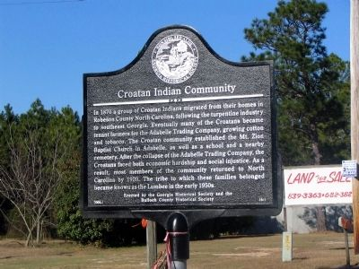 Croatan Indian Community Marker image. Click for full size.