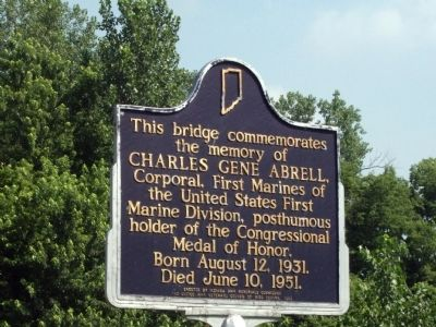 Charles Gene Abrell - (Memorial Bridge) Marker image. Click for full size.