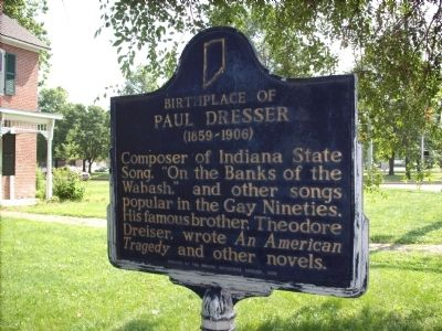 Birthplace of Paul Dresser Marker image. Click for full size.