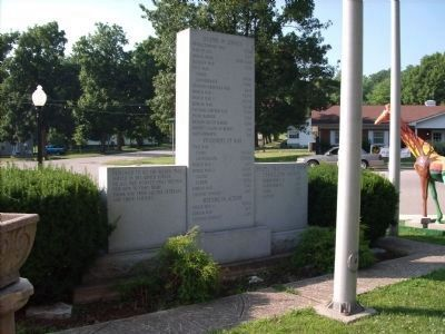 Vermillion County Indiana - - War Memorial Marker </b>(back) image. Click for full size.