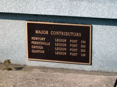 Major Contributors - - (left bench plaque) image. Click for full size.