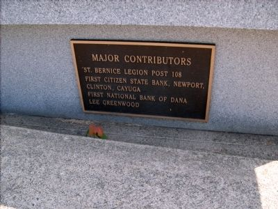 Major Contributors - - (right bench - plaque) image. Click for full size.
