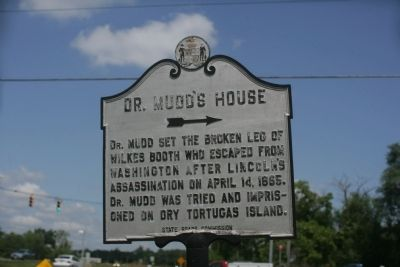 Dr. Mudd's House Marker image. Click for full size.