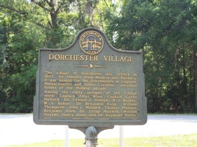 Dorchester Village Marker image, Click for more information