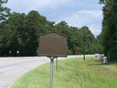 Lambert Plantation Marker, looking North on US 17 image. Click for full size.