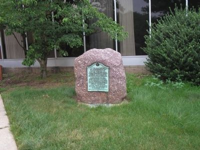 Marker on Seminary Place image. Click for full size.