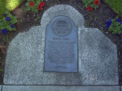 Ground Marker on Officers Row image. Click for full size.