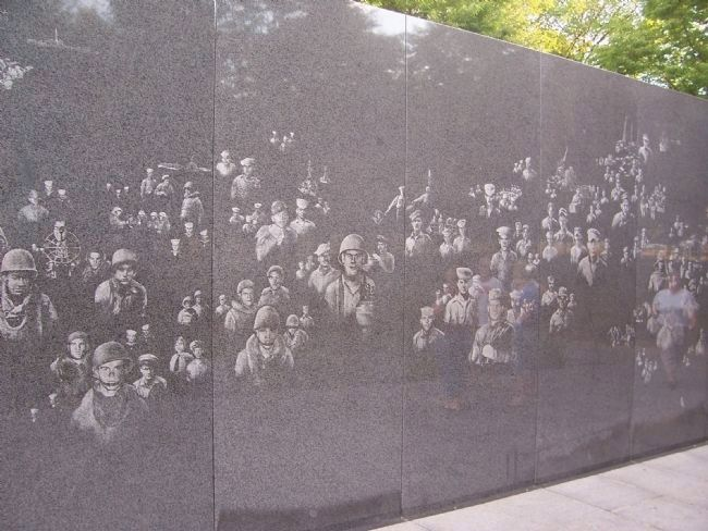 Korean War Veterans Memorial, South Wall Photo, Click for full size