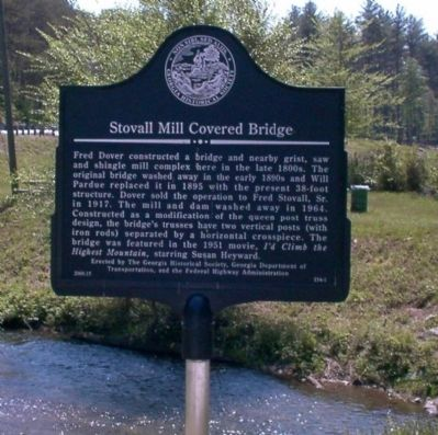 Stovall Mill Covered Bridge Marker Photo, Click for full size