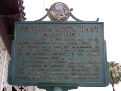 Columbia Restaurant Marker image. Click for full size.