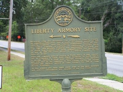 Liberty Armory Site Marker image. Click for full size.