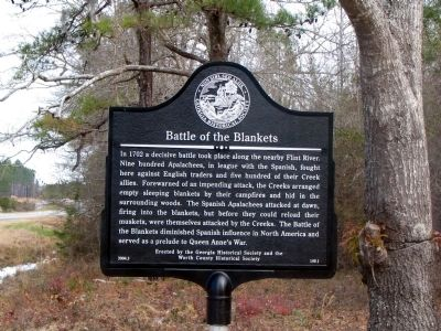 Battle of the Blankets Marker image. Click for full size.
