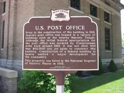 U.S. Post Office Marker image. Click for full size.