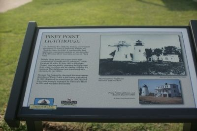 Piney Point Lighthouse Marker image. Click for full size.