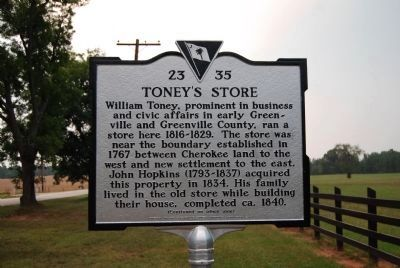 Toney's Store Marker image. Click for full size.