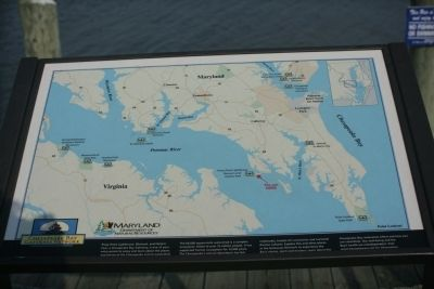 Map of Lower Potomac River and Chesapeake Bay Marker image. Click for full size.