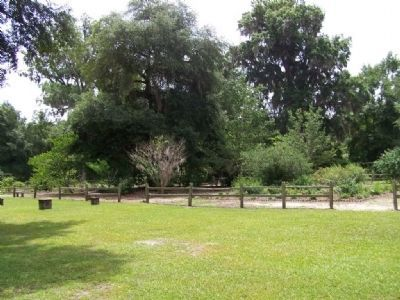 Woodmanston Plantation partial garden view image. Click for full size.
