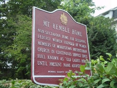 Mt. Kemble Home Marker image. Click for full size.
