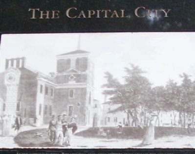Drawing on The Capital City marker. image. Click for full size.