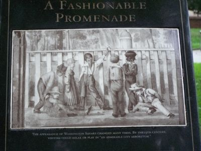 Drawing on A Fashionable Promenade marker image. Click for full size.